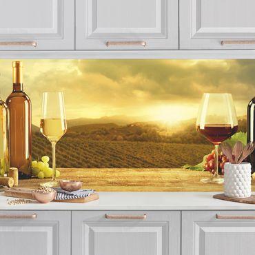 Küchenrückwand - Wein mit Ausblick