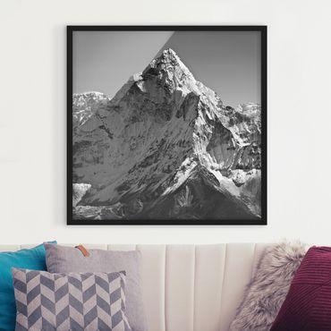 Bild mit Rahmen - Der Himalaya II - Quadrat 1:1