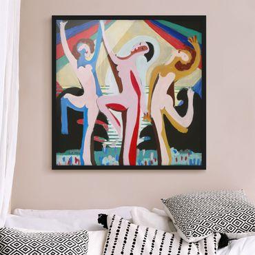 Bild mit Rahmen - Ernst Ludwig Kirchner - Farbentanz - Quadrat 1:1