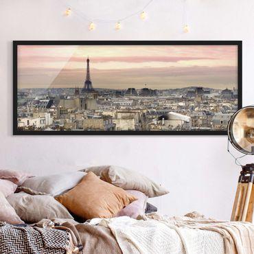 Bild mit Rahmen - Paris hautnah - Panorama Querformat