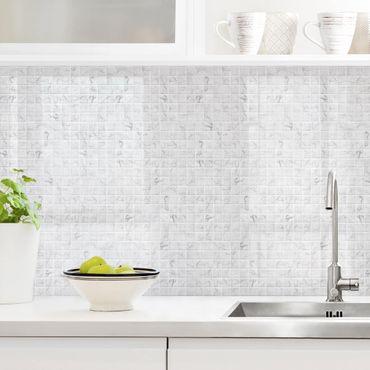 Küchenrückwand - Mosaikfliese Mamoroptik Bianco Carrara