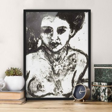 Bild mit Rahmen - Ernst Ludwig Kirchner - Artistenkind - Hochformat 3:4
