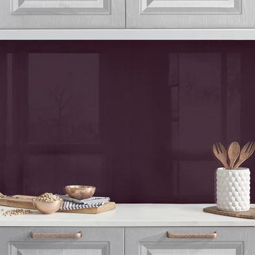 Küchenrückwand - Aubergine