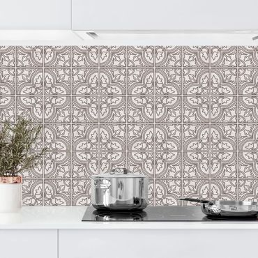 Küchenrückwand - Fliesenmuster Faro grau