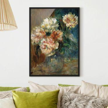 Bild mit Rahmen - Auguste Renoir - Vase Pfingstrosen - Hochformat 3:4