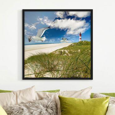 Bild mit Rahmen - Dune Breeze - Quadrat 1:1