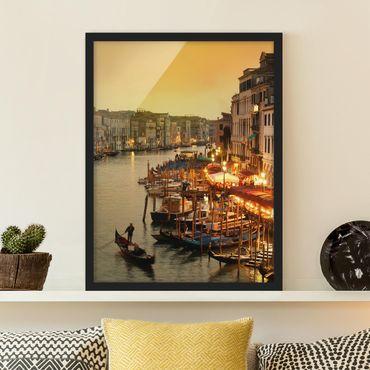 Bild mit Rahmen - Großer Kanal von Venedig - Hochformat 3:4