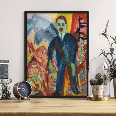 Bild mit Rahmen - Ernst Ludwig Kirchner - Der Krankenwärter - Hochformat 3:4