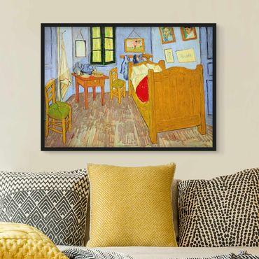 Bild mit Rahmen - Vincent van Gogh - Schlafzimmer in Arles - Querformat 3:4