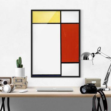 Bild mit Rahmen - Piet Mondrian - Komposition I - Hochformat 3:4