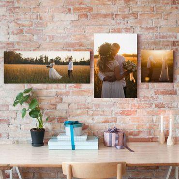 3-teiliges Leinwandbild selbst gestalten Collage Panorama