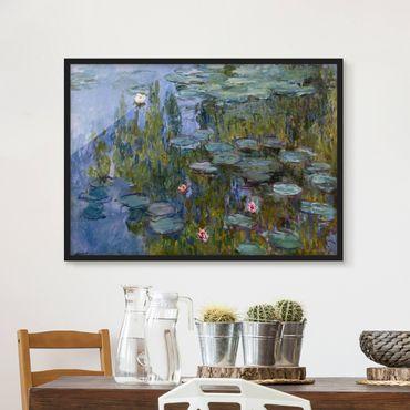 Bild mit Rahmen - Claude Monet - Seerosen (Nympheas) - Querformat 3:4