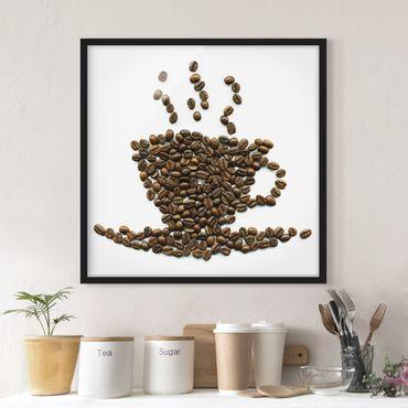 Bild mit Rahmen - Coffee Beans Cup - Quadrat 1:1