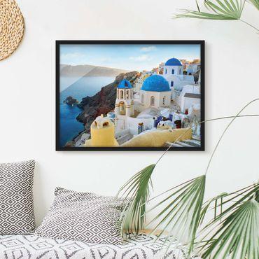 Bild mit Rahmen - Santorini - Querformat 3:4