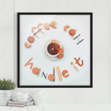 Bild mit Rahmen - Coffee can handle it - Quadrat 1:1