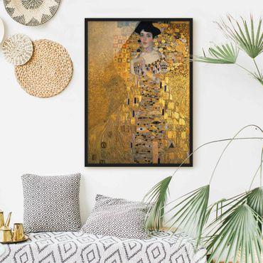 Bild mit Rahmen - Gustav Klimt - Adele Bloch-Bauer I - Hochformat 3:4