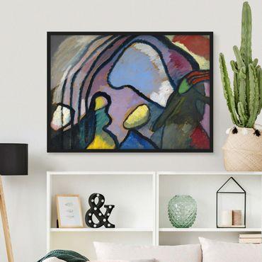 Bild mit Rahmen - Wassily Kandinsky - Improvisation - Querformat 3:4