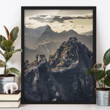 Bild mit Rahmen - Die große chinesische Mauer - Hochformat 3:4