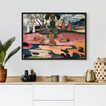 Bild mit Rahmen - Paul Gauguin - Gottestag - Querformat 3:4