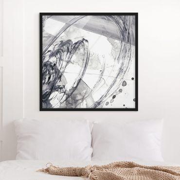 Bild mit Rahmen - Sonar Schwarz Weiß I - Quadrat 1:1