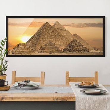 Bild mit Rahmen - Dream of Egypt - Panorama Querformat