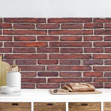 Küchenrückwand - Backsteinwand rot