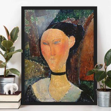 Bild mit Rahmen - Amedeo Modigliani - Junge Frau - Hochformat 3:4