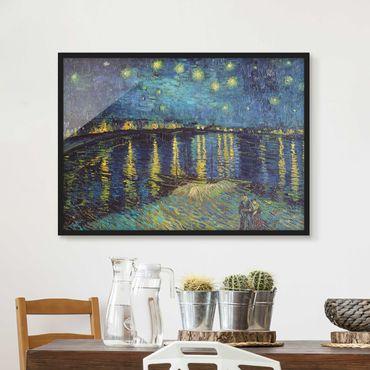 Bild mit Rahmen - Vincent van Gogh - Sternennacht über der Rhône - Querformat 3:4