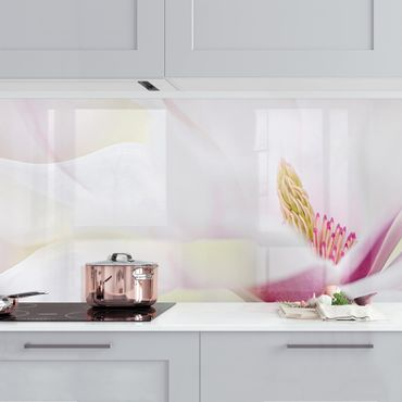 Küchenrückwand - Zarte Magnolienblüte