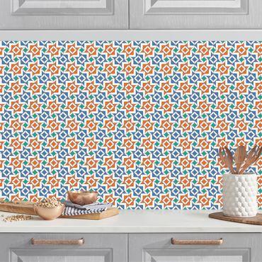 Küchenrückwand - Alhambra Mosaik mit Fliesenoptik