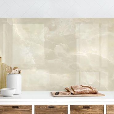 Küchenrückwand - Onyx Marmor Creme