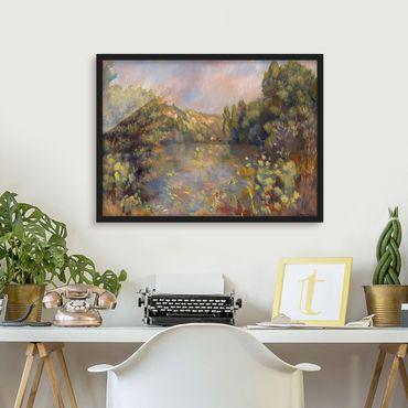 Bild mit Rahmen - Auguste Renoir - Landschaft mit See - Querformat 3:4