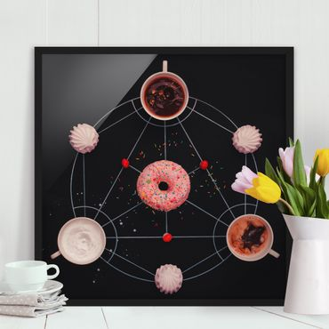 Bild mit Rahmen - Süße Alchemie des Kochens - Quadrat 1:1