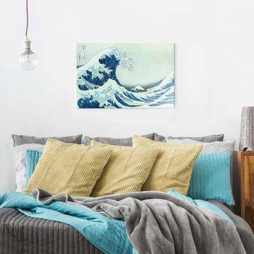 Glasbild - Katsushika Hokusai - Die grosse Welle von Kanagawa - Querformat 2:3