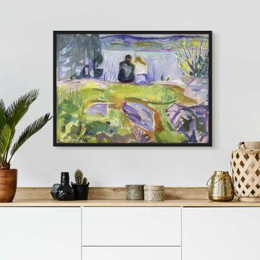 Bild mit Rahmen - Edvard Munch - Frühling - Querformat 3:4