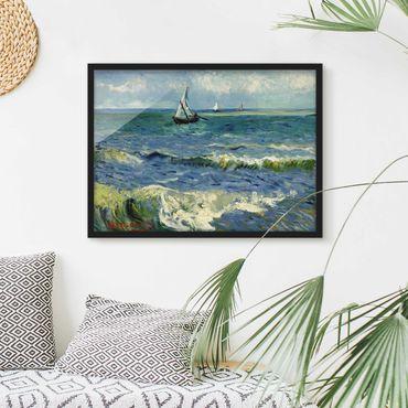 Bild mit Rahmen - Vincent van Gogh - Seelandschaft - Querformat 3:4