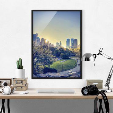 Bild mit Rahmen - Peaceful Central Park - Hochformat 3:4