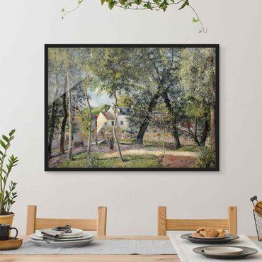 Bild mit Rahmen - Camille Pissarro - Landschaft bei Osny - Querformat 3:4