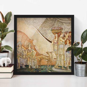 Bild mit Rahmen - Galileo Chini - Dekoration der Terme Berzieri Detail 5 - Quadrat 1:1