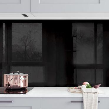 Küchenrückwand - Tiefschwarz