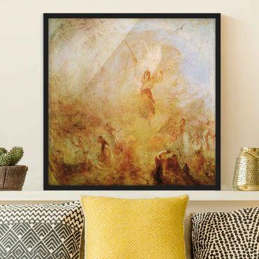 Bild mit Rahmen - William Turner - Engel vor Sonne - Quadrat 1:1