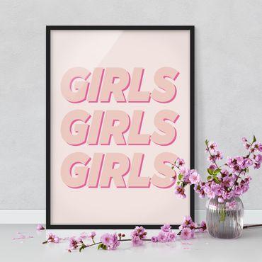 Bild mit Rahmen - GIRLS GIRLS GIRLS - Hochformat 3:4