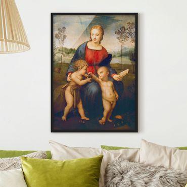 Bild mit Rahmen - Raffael - Die Madonna - Hochformat 3:4
