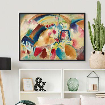 Bild mit Rahmen - Wassily Kandinsky - Landschaft mit Kirche - Querformat 3:4