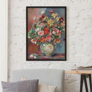 Bild mit Rahmen - Auguste Renoir - Blumenvase - Hochformat 3:4