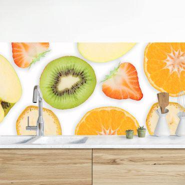 Küchenrückwand - Bunter Obst Mix