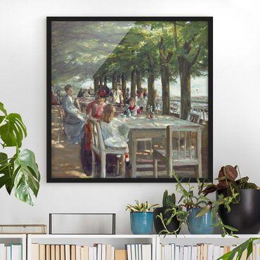 Bild mit Rahmen - Max Liebermann - Terrasse des Restaurants Jacob - Quadrat 1:1