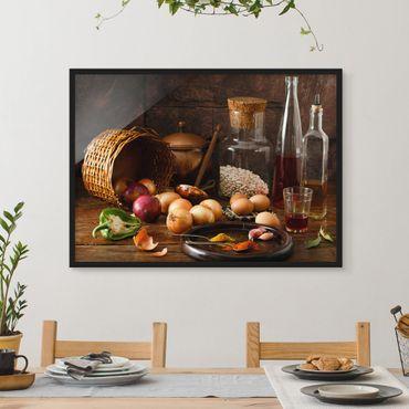 Bild mit Rahmen - Düfte beim Kochen - Querformat 3:4