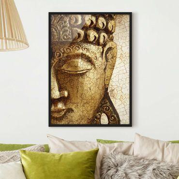 Bild mit Rahmen - Vintage Buddha - Hochformat 3:4
