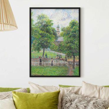 Bild mit Rahmen - Camille Pissarro - Saint Anne's Church - Hochformat 3:4